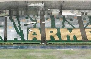 Fuerte aguacero provocó daños en el estadio de Armenia