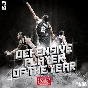"Kawhi Leonard élu ""Defensive Player of The Year"""