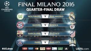 Com Barça x Atlético, sorteio das quartas da UCL é realizado; Bayern e Real contam com sorte