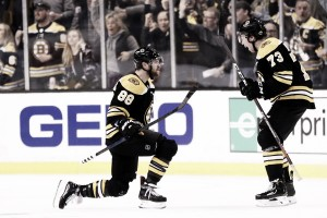 Game 1 analysis: Boston Bruins dominate match up battle against Auston Matthews