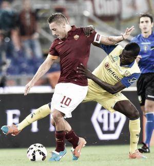 Diretta partita Chievo Verona - Roma, risultati live di Serie A