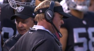Oakland Raiders defeat the Detroit Lions in Gruden's return to the sidelines