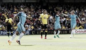 Agüero marca dois e Manchester City goleia Watford fora de casa