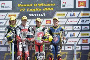 Los pilotos de Moto3 conquistan el campeonato italiano