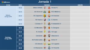 El Real Valladolid ya conoce los horarios de las dos primeras jornadas de Liga