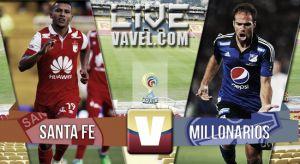 Resultado Santa Fe vs Millonarios en la Liga Águila 2015 (1-3)
