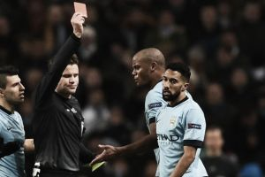 Clichy reacts to Barcelona sending-off