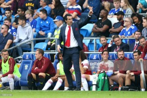 Unai Emery praises Gunners' character after 3-2 victory over Cardiff City