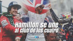 Hamilton entra en el club de los cuatro