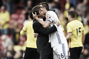 Conte looks at positives in controversial Watford victory
