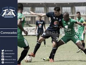 Convocados de Millonarios para el debut en Copa Águila