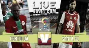 Resultado Cortuluá 0-1 Independiente Santa Fe por Liga Águila 2016-II