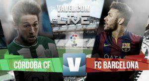 Resultado Córdoba vs Barcelona en la Liga BBVA 2015 (0-8)