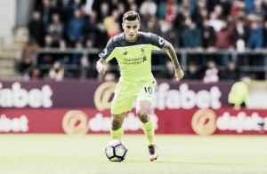 Liverpool's Philippe Coutinho unlikely to play away at Tottenham due to hamstring problem