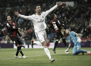 Al Rayo le cae un chaparrón de goles en el Bernabéu