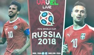 Terminata Costa Rica - Serbia, LIVE Mondiali Russia 2018 (0-1): Festa slava nel segno di Kolarov