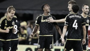 Ola Kamara brace sees off New England Revolution, preserves playoff hopes for Columbus Crew