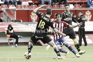 El Real Zaragoza sucumbe ante un Sporting con superioridad