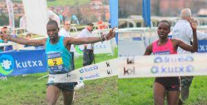Joseph Ebuya y Milcah Chemos se imponen en el barro donostiarra