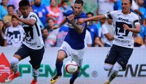 Resultado y goles de Cruz Azul vs Pumas UNAM  en la Liga MX (1-1)