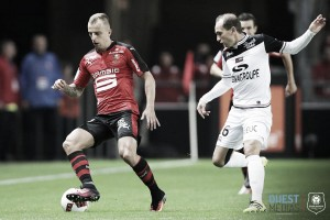 Rennes 1-0 Guingamp: Last gasp goal seals derby win for hosts