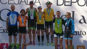 Amatriain y Rovira, campeones de España de duatlón de Larga Distancia