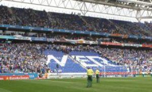 La LFP denuncia los cánticos de la afición del Espanyol en el derbi