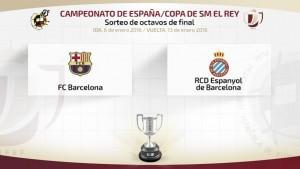 Derbi catalán en octavos de Copa del Rey