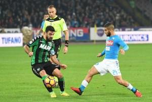 Serie A - Il Napoli domina, il Sassuolo colpisce, alla fine è pareggio (1-1)