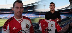 Bilal Basacikoglu y Luke Wilkshire al Feyenoord