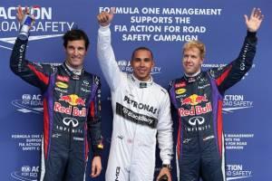Hamilton logra la pole en Spa