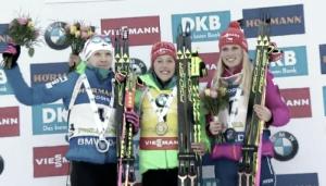 Biathlon - Pokljuka, inseguimento femminile: Dahlmeier come Fourcade, battute Makarainen e Puskarcikova