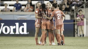 The Houston Dash beat the Orlando Pride in their final meeting of the season