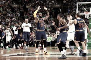 LeBron James brilha, Cavaliers atropelam Celtics e vencem segunda fora de casa