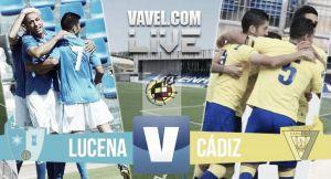 Lucena - Cádiz en directo online en Segunda División B 2015