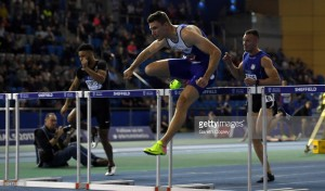 Asha Philip and Andrew Pozzi successfully defend titles on day one of the British Athletics Indoor Team Trials