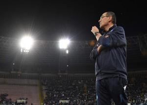 """Il Napoli torna alla vittoria, Sarri: """"Da domani penseremo alla Juve. Oggi mi godo la vittoria"""""""