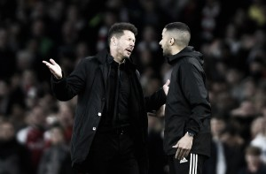 """Simeone valoriza esforço do Atlético de Madrid após expulsão: """"Estes jogadores são quase heróis"""""""