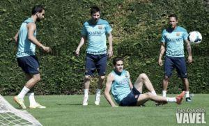 Piqué y Jordi Alba hacen trabajo de campo