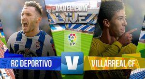 Resultado Deportivo de La Coruña vs Villarreal en Liga BBVA 2015 (1-1)