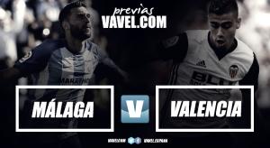 Previa Málaga CF - Valencia CF: duelo por objetivos dispares
