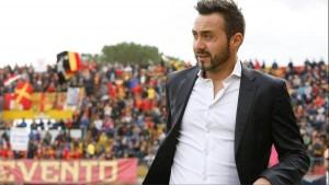"""Benevento, De Zerbi: """"Non regaleremo nulla a nessuno"""""""