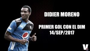Didier Moreno sumó su primer gol con el DIM