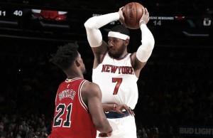Com volta de Carmelo Anthony, Knicks vence Bulls em clima de despedida na temporada