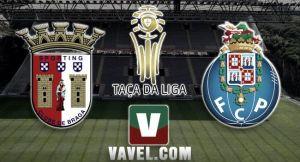Sporting Braga vs Porto, Taça da Liga en vivo y en directo online (1-1)