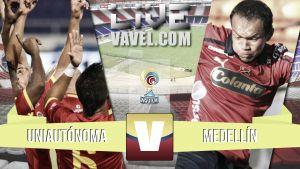 Resultado Uniautónoma vs Medellín en la Liga Águila 2015-I (1-1)