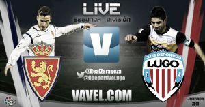 Resultado Real Zaragozavs Lugoen la Liga Adelante2014/2015 (0-0)
