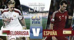 Resultado Bielorrusia vs España en clasificación para la Eurocopa 2016 (0-1)