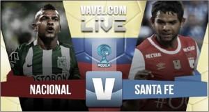 'Frío' empate entre Atlético Nacional y Santa Fe (1-1)