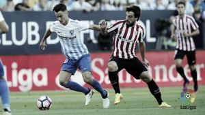 Málaga CF vs Athletic Club EN VIVO y directo online en la Liga 2017 (3-3)